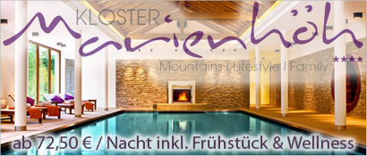 Kloster Marienhöh – Mountains | Lifestyle | Family, Innenpool