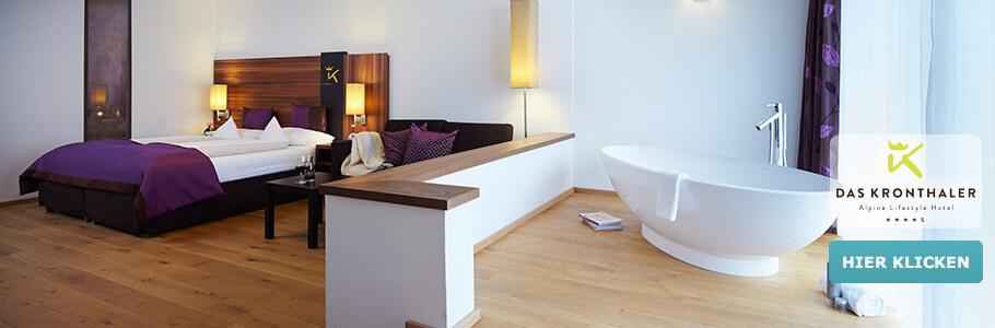Wellness, Badewanne, DAS KRONTHALER - Alpine Lifestyle Hotel