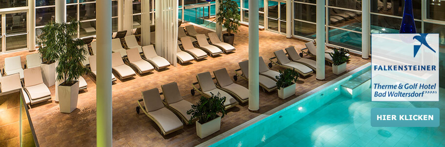 Wellness, Innenpool, Falkensteiner Therme & Golf Hotel Bad Waltersdorf
