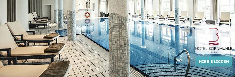 Hotel Bornmühle, Pool, Ruheliegen