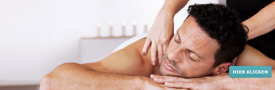 Männer Wellness, Massage, entspannen, relaxen