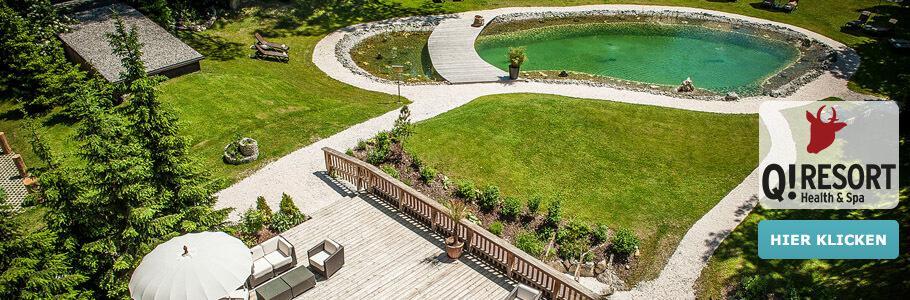 Wellness, Außenpool, Garten, Terrasse, Q! Resort Health & Spa Kitzbühel