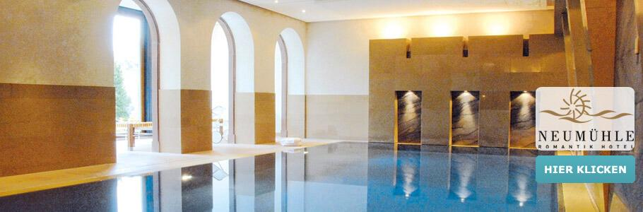 Wellness, Innenpool, Romantik Hotel Neumühle