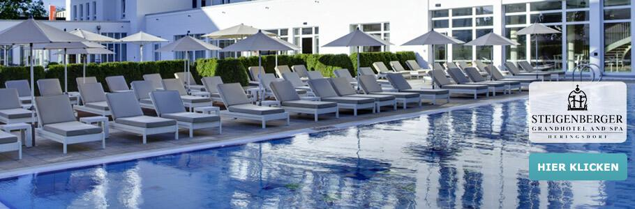 Steigenberger Grandhotel and SPA, Wellness, Pool, Ruheliegen