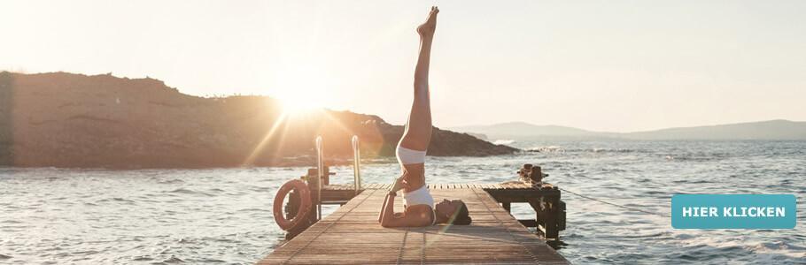 Wellness & Bewegung, Meer, Strand, Steg, Yoga ,Sonne, Wasser