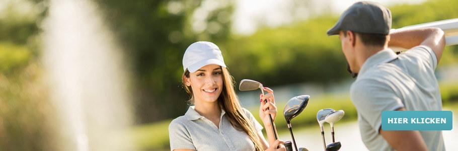 Wellness & Golf, Paar, Golfschläger